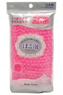 Мочалка средней жесткости Ohe Poko Awa Body Towel розовая 30г: фото