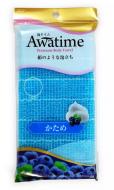 Мочалка для тела жесткая Ohe Awa time body towel katame голубая 35г: фото