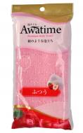 Мочалка для тела средней жесткости Ohe Awa time body towel normal розовая 35г: фото