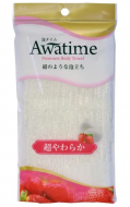 Мочалка для тела супермягкая Ohe Awa time body towel super soft белая 35г: фото