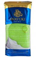 Мочалка для тела жесткая Ohe Awayuki Body Towel зеленая 30г: фото