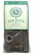 Мочалка для тела мягкая премиум Ohe The Suite Bathroom Premium Quality Towel темно-коричневая 30г: фото