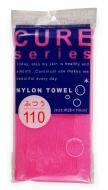 Мочалка средней жесткости из 100% ультратонкого нейлона Ohe Cure 2 розовая: фото