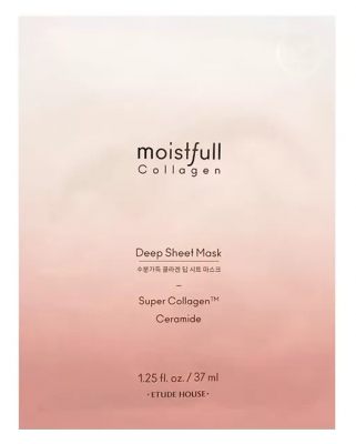 Маска тканевая супер-коллаген ETUDE HOUSE Moistfull Collagen Deep Sheet Mask 37мл: фото