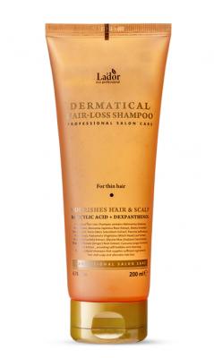 Профессиональный шампунь для тонких волос LADOR DERMATICAL HAIR-LOSS SHAMPOO FOR THIN HAIR 200мл: фото