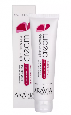 Крем для ног ультраувлажняющий с мочевиной (15%) и PHA-кислотами ARAVIA Professional Ultra Moisture Cream 100мл: фото