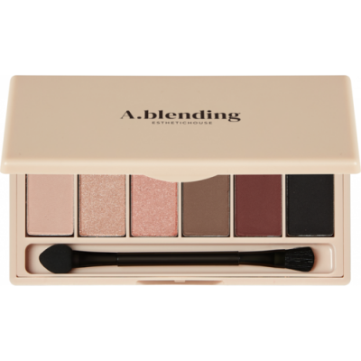 Тени для век ESTHETIC HOUSE A.blending Pro Eyeshadow Palette Nude Temptation 2г*6шт: фото
