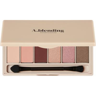 Тени для век ESTHETIC HOUSE A.blending Pro Eyeshadow Palette Nude Glow 2г*6шт: фото
