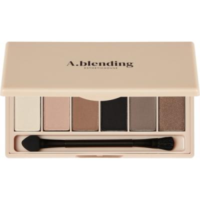 Тени для век ESTHETIC HOUSE A.blending Pro Eyeshadow Palette Nude Beach 2г*6шт: фото