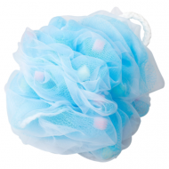 Мочалка для тела в форме шара Yokozuna Flower ball голубая: фото