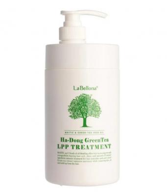 Маска для волос с зеленым чаем Gain Cosmetics LABELLONA HA-DONG GREEN TEA LPP TREATMENT 500мл: фото