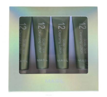 Лосьон для кожи головы очищающий Masil 12 scalp spa cleansing lotion 15мл*4шт: фото