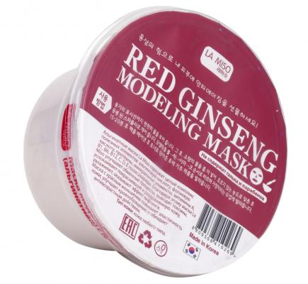 Маска альгинатная с красным женьшенем La Miso Red ginseng modeling mask 28г: фото