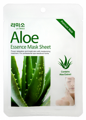 Маска с экстрактом алоэ La Miso Aloe essence mask sheet 21г: фото