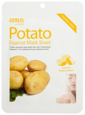 Маска с экстрактом картофеля La Miso Potato essence mask sheet 21г: фото