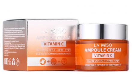 Крем ампульный с витамином С La Miso Ampoule сream vitamin C 50мл: фото